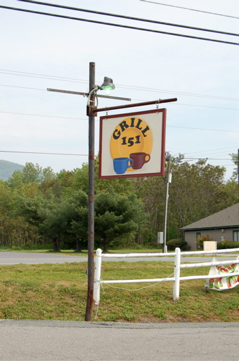 Grill 151 sign in Nellysford