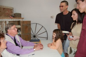 Earl Hamner and sister Audrey, chat with fans at a book signing in The Walton's Mountain B & B during his last trip to Schuyler in 2007.