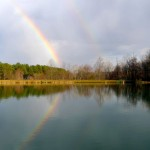 ™ 2012 Nelson County Life : Photo By NCL Mountain Photographer Paul Purpura : Paul caught this shot of a beautiful rainbow over Lake Monacan in Stoney Creek earlier this week after an isolated thundershower moved across the area.