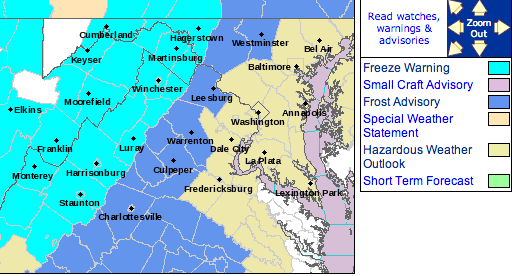 Various Freeze Watches / Warnings & Frost Advisories  –  EXPIRED