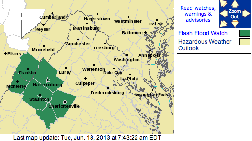 FLASH FLOOD WATCH : Continues Into Tuesday Evening