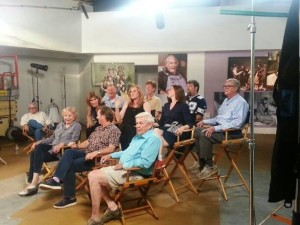 Photo courtesy of Jon Walmsley : The actors and Nelson County, VA native & creator (Earl Hamner, Jr) sit for an interview with Good Morning America. The reunion interview will air the week of October 11, 2013.