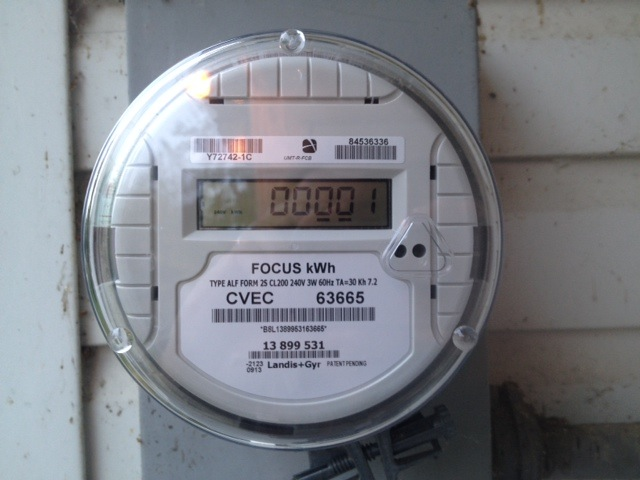 Digital Electric Meter : Cvec replacing older electric meters with new digital ones
