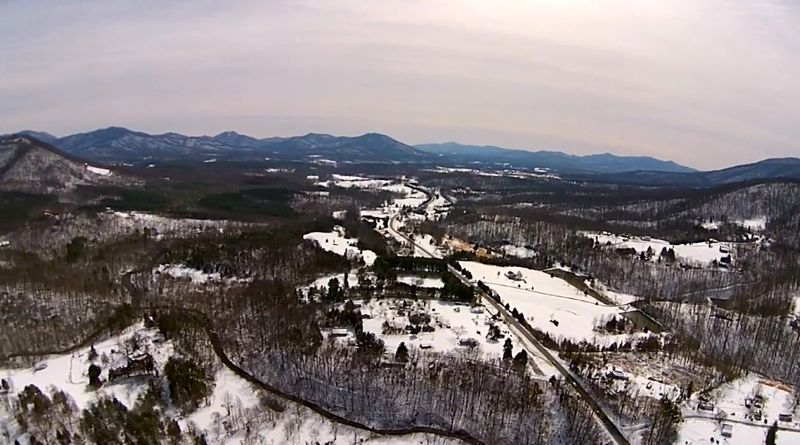 A View From Above - Flying Over the Rockfish Valley After The Snowstorm (Video)