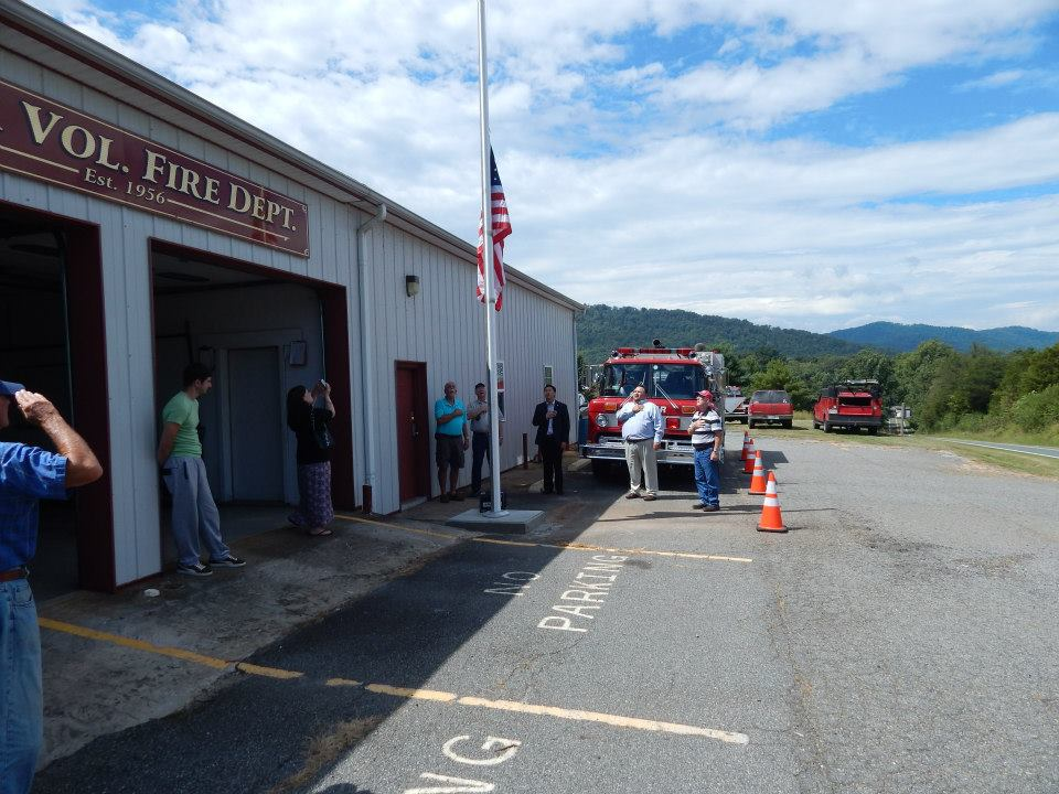 Nelson: Faber Volunteer Fire Department Dedicates New Flagpole During 9-11 Remembrance