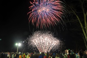 ©2015 Blue Ridge Life : Photos By BRLM Mountain Photog Paul Purpura : The crisp night sky was alive with color and the sounds of fireworks during the annual New Year's Eve event held Wednesday - December 31, 2014 at Wintergreen Resort.