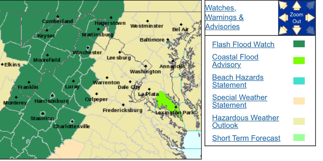 Flood Watch In Effect From Tuesday Afternoon Until Wednesday Morning - CANCELED