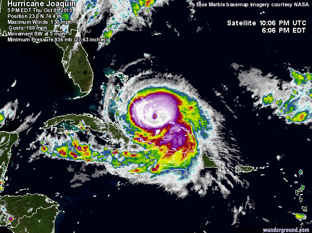 Hurricane Joaquin Heads Out To Sea  : Updated 5:10 PM  -  10.2.15