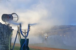 Photo Courtesy Of Wintergreen Resort : Temps dropped low enough Friday afternoon - December 18, 2015 for Wintergreen to resume making snow.