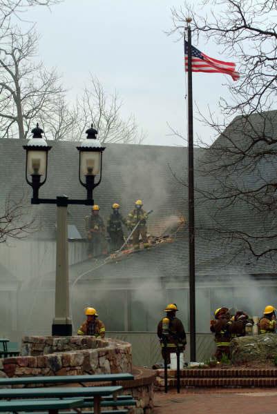 Paul Purpura wide shot of fire fighters