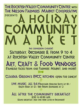 Datebook : December : Afton : RVCC Pancake Breakfast & Holiday Community Market