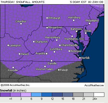 Snowfall Preciction Thursday