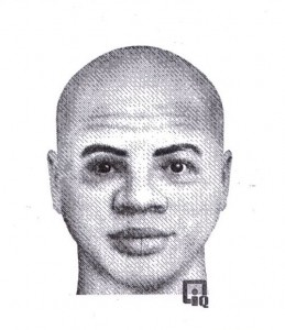 The second suspect's sketch as released by the Nelson County Sheriff.