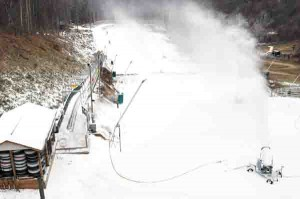 Snow Making began in the tubing park Wednesday, but may start on the slopes as early as Thursday afternoon.