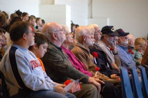 Veterans from all branches of the military were on hand for the ceremony at RRES.