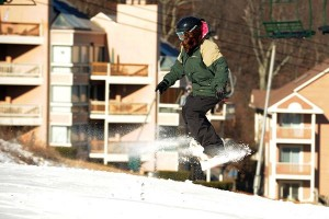 Photos By Paul Purpura : ©2008 NCL : The weather cooperated for a great weekend of skiing and snowboarding at Wintergreen Resort.