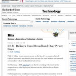 BPL / IBM Mention In NYT Piece