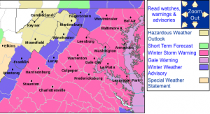 Winter Storm Warnings and advisories continues through mid afternoon across Central Virginia.