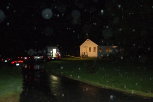 ©2009 NCL Magazine : Crime scene tape stretches around the home of Opal Page on Rockfish Valley Highway in Afton, Virginia late Wednesday night.