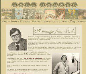 A screengrab from Earl Hamner's website.