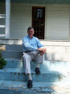 ©2009 NCL Magazine : Nelson County, Virginia native, Earl Hamner, Jr. turns 86 years old today. He was born on this date back in 1923 in Schuyler. Here he sits on the steps of his old home place back in Schuyler.
