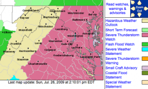 Severe Thunderstorm Watch #625 In Effect Until 9 PM EDT Sunday Evening, Via The NWS.*