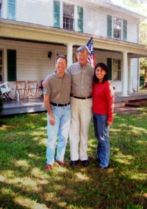 Earl during a 2005 visit with Tommy & Yvette Stafford at the NCL office in Greenfield.
