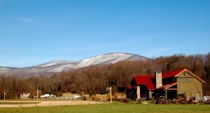 Looking toward Black Rock Mountain from Devils Backbone Brewing.