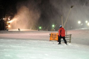 Photos By Paul Purpura : Folks were taking to the slopes Wednesday night at Wintergreen Resort.