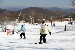 ©2010 www.nelsoncountylife.com : Photo By Paul Purpura : Skiers enjoy some of the best slopes conditions in years at Wintergreen Resort.