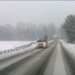 """Storm Arrives On Cue : Roads Becoming Hazardous : 20-30"""" By Sat Night : 2.5.10"""