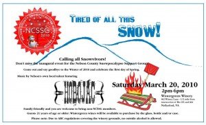 Snowvivor 2010 Spring Fling is this weekend @ Wintergreen Winery. Say so long winter and hello spring! : Click image to enlarge for more details.