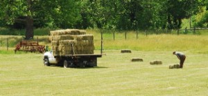 Photo By Ann Strober : ©2010 www.nelsoncountylife.com : Farmers took advantage of great weather Monday to haul hay from the fields. Tuesday will be nice again, but storms are on the way.