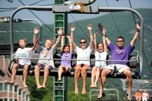 Long before night fell, people enjoyed a rare summertime ride on the ski lifts at Wintergreen as part of the July 4th celebration.
