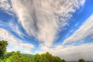 Photo By Paul Purpura : ©2010 www.nelsoncountylife.com : The outer cloud bands of Hurricane Earl move over Nelson County, Virginia this past Thursday afternoon. Paul Purpura grabbed this dramatic shot from the Afton Valley Overlook on the BRP. Click to enlarge.