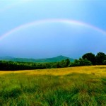 Double Rainbow Over Pilot Mountain