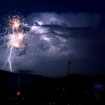 Even Better! Enhanced Photo of Fireworks & Lightning