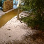 A Splash of Snow At Wintergreen Friday Night
