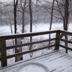 Light Snow Begins Falling Across The Blue Ridge