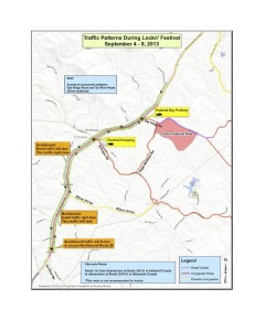 Via VDOT : Click on map image above to enlarge photo for greater detail.
