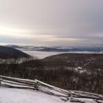 Light Snow Falls Across The Blue Ridge Of Central Virginia