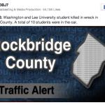 Rockbridge: Washington & Lee University Student Killed In Wreck - Total of 10 Students In Car. - Via WDBJ7
