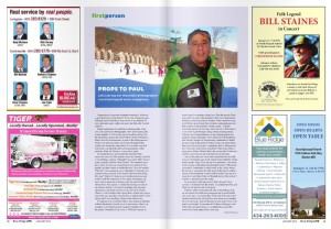 Click on the magazine image above to read Paul's inspiring journey of 2013 headed into 2014.
