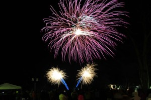 ©™2014 Blue Ridge Life : Photo By BRL Mountain Photographer Paul Purpura : People at Wintergreen ushered in 2014 by taking in a spectacular fireworks display a couple of hours before midnight.