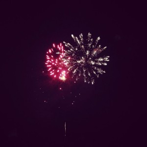 Photo Courtesy of Nichole Gibson : With unusually chilly temps in the air, Wintergreen Resort held their annual 4th of July fireworks display this past Friday evening - July 4, 2014.
