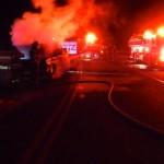 Nelson: Firemen Battle Truck Fire On Route 151 In Greenfield