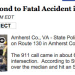 State Police Respond to Fatal Accident in Amherst County : Story Via ABC-13 Lynchburg