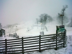 ©2009-2014 Blue Ridge Life : Photo By BRLM Mountain Photographer  Paul Purpura : Wintergreen announced early Thursday they would begin making snow on Friday - November 14th. The earliest ever in their history.