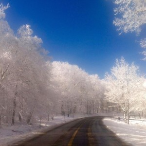 Photo By Kim Sillas : And another beautiful shot sent to us by Kim Sillas over at Wintergreen Real Estate's mountain office. This is Wintergreen Drive near the spa. Just breathtaking.