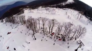 Image Courtesy Of Wintergreen Resort : Conditions were almost as perfect as can be this past Friday afternoon - January 9, 2014 in this aerial view above Wintergreen Resort.